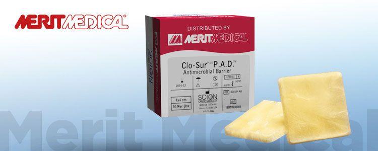 Parche Hemostático Clo-Sur PAD de Merit Medical | Compañía representada por World Medica