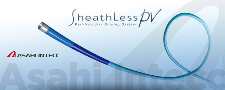 Sheathless PV de Asahi Intecc   Compañía representada por World Medica