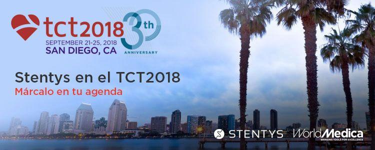 Ven a ver a nuestras presentaciones de STENTYS en el TCT 2018