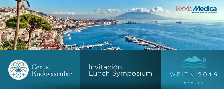 Cerus Endovascular, representada por World Medica, organiza un Lunch Symposium durante el WFITN 2019 Congress en Nápoles
