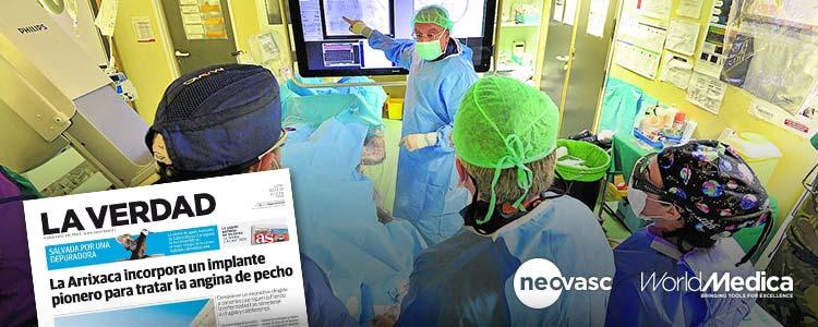 Dispositivo Reducer implantado el pasado viernes en el Hospital Virgen de la Arrixaca (Murcia)