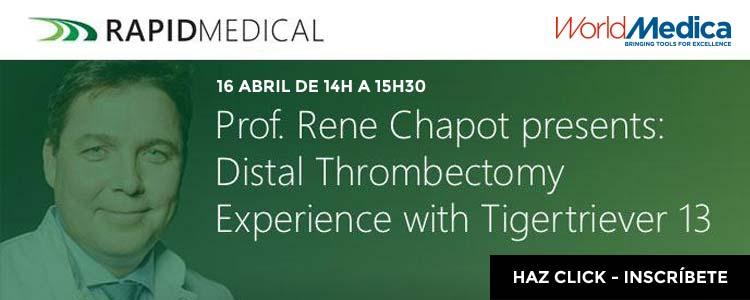 Prof. Rene Chapot impartirá un webinar exclusivo sobre Trombectomía Distal con Tigertriever 13