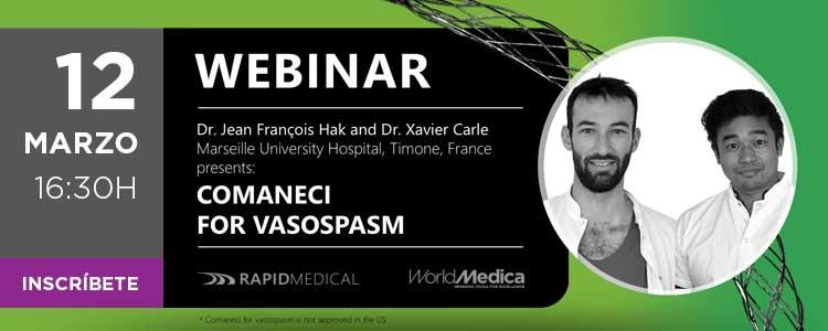 Próximo 12 de marzo - Webinar Comaneci for Vasospasm